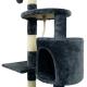 Árbol rascador para gatos | Mediano | Rascagatos | 3 alturas | 40x40x112 cm | Gris | Silvestre | Mobiclinic - Foto 2