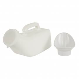 Orinal unisex sin tapa | Blanco | Capacidad 1 litro