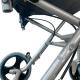 Silla de ruedas para tránsito | Plegable | Aluminio | Ruedas pequeñas | Frenos en manetas | Negro | Júpiter | Clinicalfy - Foto 9