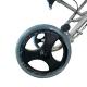 Silla de ruedas para tránsito | Plegable | Aluminio | Ruedas pequeñas | Frenos en manetas | Negro | Júpiter | Clinicalfy - Foto 10