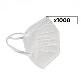 1000 Mascarillas Adulto FFP2 | 0,53€/ud | Autofiltrantes | 5 capas | Marcado CE | 40 cajas 25 uds