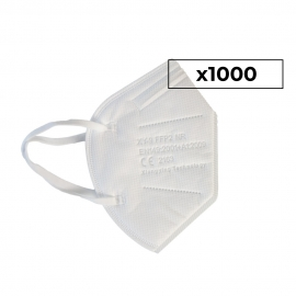 1000 Mascarillas Adulto FFP2 | 0,67€/ud | Autofiltrantes | 5 capas | Marcado CE | 40 cajas 25 uds
