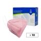 10 Mascarillas Adulto FFP2 | Rosa | 0,89€ud |Autofiltrantes | Marcado CE | Caja de 10 uds | EMO - Foto 1