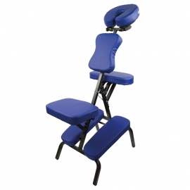 Silla de masaje | Plegable | Regulable | Hasta 250 kg | Azul | Mobiclinic