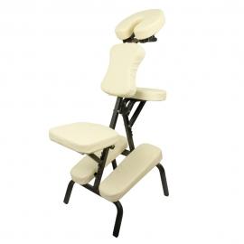 Silla de masaje | Plegable | Regulable | Hasta 250 kg | Crema | Mobiclinic