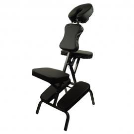 Silla de masaje | Plegable | Regulable | Hasta 250 kg | Negro | Mobiclinic