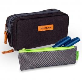 Pack 2 estuches para diabéticos | Estuche isotérmico negro Diabetic's | Estuche isotérmico gris y lima Insulin's | Elite Bags