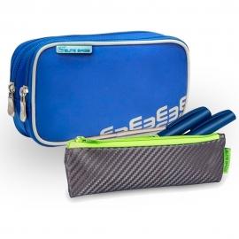 Pack bolsa isotérmica y estuche | Colores gris y lima | Poliéster y fibra de carbono | Dia's e Insuli's | Elite Bags
