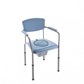 Silla con inodoro | Para habitación | Altura regulable | Cubeta extraíble