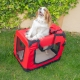 Transportín para mascotas | Talla M | Soporta 10 kg | 57x38x44 cm | Plegable | Rojo | Balú | Mobiclinic - Foto 8