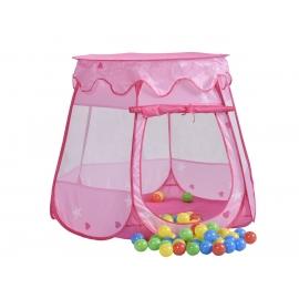 Tienda de campaña infantil para juegos | Plegable | Incluye bolas | Rosa | Fantasía | Mobiclinic