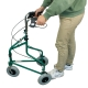 Andador para ancianos   Plegable   Freno en manetas   3 ruedas   Cesta   Verde   Caleta   Mobiclinic - Foto 7