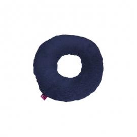 Cojín antiescaras Sanitized con agujero y forma redonda, color azul marino 44x11cm
