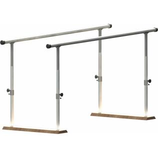 Paralela regulable en altura con base de madera