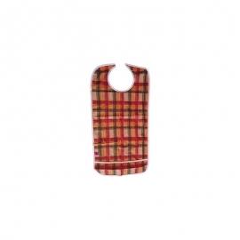 Babero impermeable con bolsillo | Estampado cuadros | Cierre de corchete