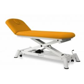 Camilla de reconocimiento eléctrica | 2 cuerpos | 190x70 cm | Respaldo reclinable en negativo | CE-0120-AR
