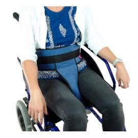 Cinturón perineal acolchado   Con hebillas   Adaptable para todo tipo de silla de ruedas