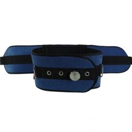 Cinturón de sujeción para la cama   Acolchado y con cierre IronClip   Para camas de 90 cm   Azul