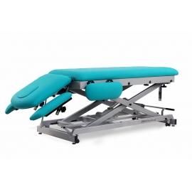 Camilla eléctrica para osteopatía de siete secciones | (50+135+13)x56cm | Regulable en altura | CE-0157-ABR