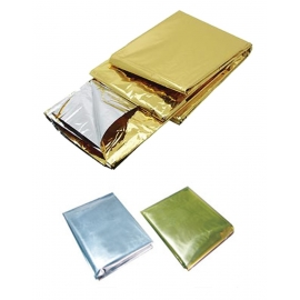 Manta emergencia | Oro/plata | Aleación de aluminio | 160x260 cm