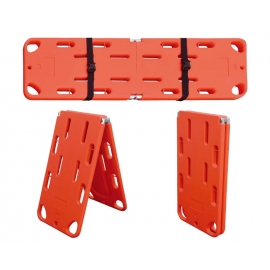 Tablero espinal | Plegable | 2 correas | Polietileno | 185x50x4 cm | 160 kg de carga