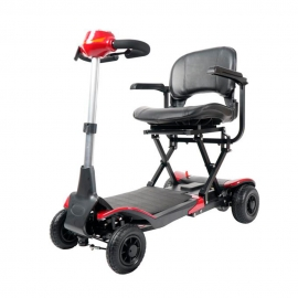 Scooter eléctrico plegable | Auton. 15Km | Plegado automático con mando | 24V | Rojo | Apolo | Mobiclinic