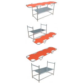 Soporte para camillas apilables | Aluminio | Con tabla de colocación