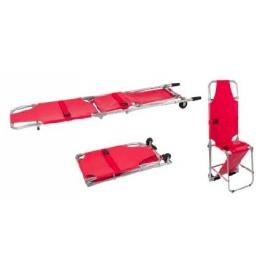 Camilla/silla plegable | 2 ruedas | Dos asas de sujeción