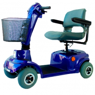 Scooter eléctrico   Auton. 34 km   4 ruedas   Asiento giratorio y plegable   12V   Azul   Piscis  Mobiclinic