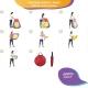 Tienda de campaña para juegos infantil | Doble carpa con túnel | Plegable | Incluye bolas | Fortaleza | Mobiclinic - Foto 9