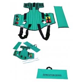 Dispositivo de extricación | Apto para niños | 2 hebillas | Fijación por velcro | Con bolsa de transporte