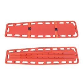 Tablero espinal de única pieza   HDPE   2 correas   186x45.5x5.5 cm   160 kg de carga