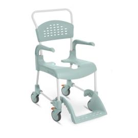 Silla de baño con WC   Reposabrazos y reposapiés   Con ruedas   Segura   Para mayores