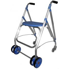 Andador rollator | Plegable | Aluminio | Azul | ARA-PLUS | Forta