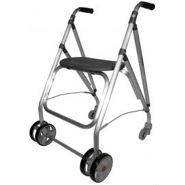 Andador rollator | Plegable | Aluminio | Negro | ARA-PLUS | Forta