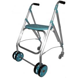 Andador rollator | Plegable | Aluminio | Esmeralda | ARA-PLUS | Forta
