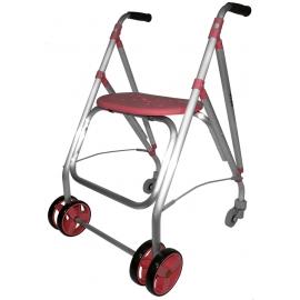Andador rollator | Plegable | Aluminio | Coral | ARA-PLUS | Forta