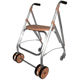Andador rollator | Plegable | Aluminio | Salmón | ARA-PLUS | Forta