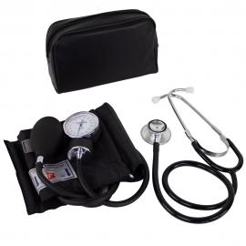 Pack de Tensiómetro de brazo manual y Fonendoscopio | Estetoscopio de aluminio y doble campana | Mobiclinic