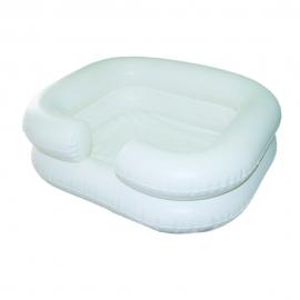 Aufblasbares Haarwaschbecken mit Abwasserschlauch | Weiß | Mobiclinic