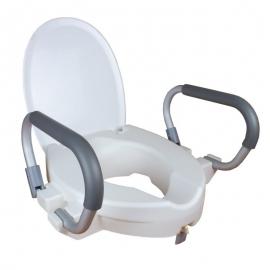 Toilettensitzerhöhung | Deckel | mit Armlehnen | Weiß | Alcalá | Mobiclinic