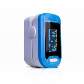 Oxymètre de pouls au doigt pour adultes   Onde pléthysmique   Précis et fiable   Non invasif   Bleu   Mobiclinic