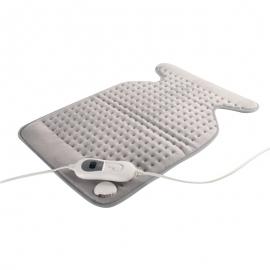 Coussin chauffant pour le dos et la nuque   62x43 cm   3 niveaux de chaleur   Arrêt automatique   Mobiclinic