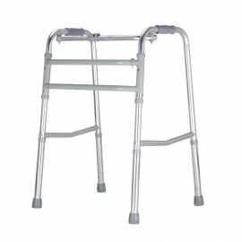 Déambulateur pour personnes âgées   Sans roues   Aluminium ultra léger   Réglable et Pliable   Argenté   Mezquita   Mobiclinic