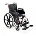 Silla de ruedas plegables de acero