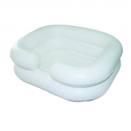 Aufblasbares Haarwaschbecken mit Abwasserschlauch   Weiß   Mobiclinic
