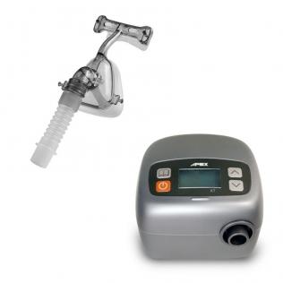 Equipo apnea del sueño CPAP XT AUTO. Máscara nasal talla M y tubo APEX