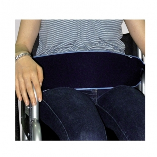 Ceinture de sécurité pour fauteuils roulants   Avec fermeture à pression