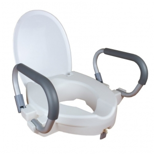 Rehausseur toilette | Réhausse WC | Couvercle, accoudoirs amovibles | Hauteur 10 et assise: 40 cm | Alcalá | Mobiclinic