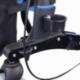 Déambulateur à 4 roues avec freins VIP| Pliable et réglable | Assise et dossier | Bleu ciel | Trajano | Mobiclinic - Foto 15